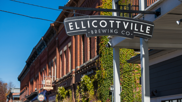Ellicottville Brewing Co. sign
