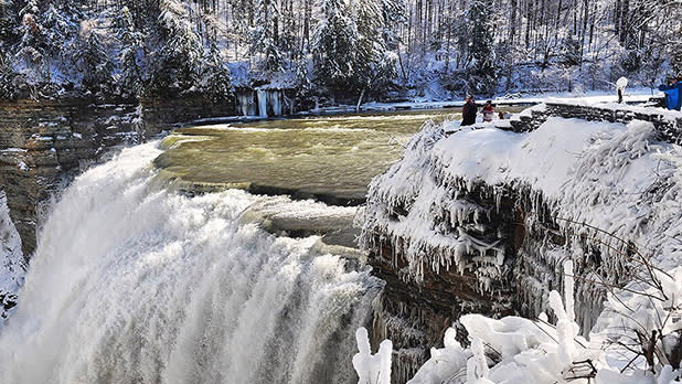 Winter at Genesee River Middle Falls