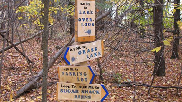 Grand Lake Reserve trail signs