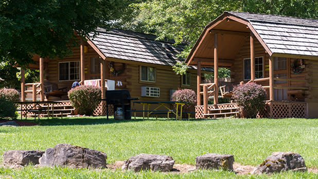 Two cabins at Herkimer Campground