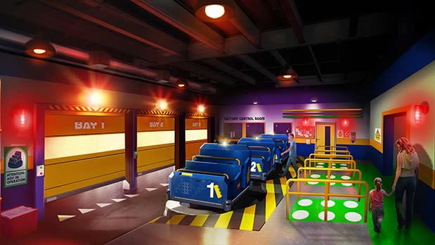 The Legoland Factory Adventure ride
