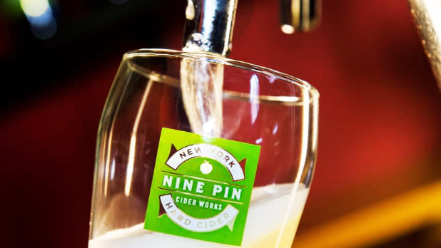 Cider being poured