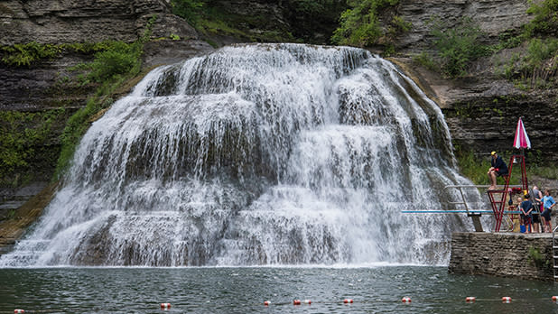 A waterfall at Robert H. Treman State Park