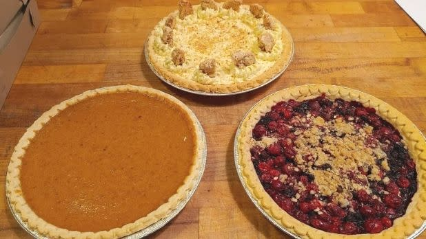 Three pies