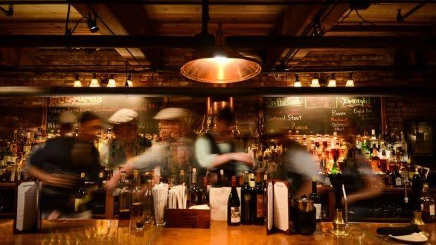 Bartenders at Brown's Brewing in Troy