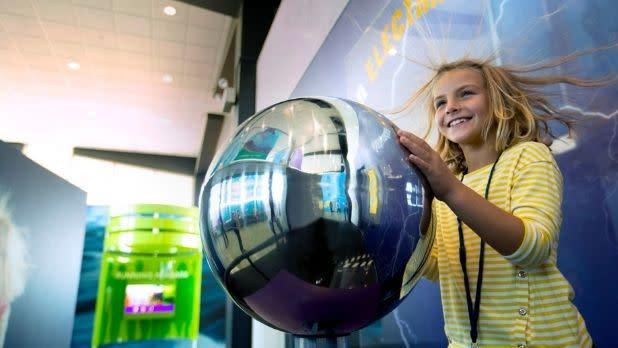 Girl at exhibit at Niagara Power Vista-NYPA Niagara Power Project