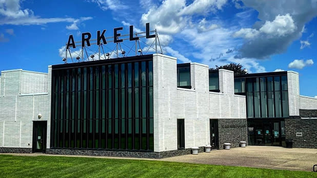 Arkell Museum with the ARKELL sign on top