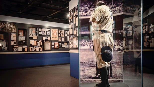 A gallery inside the Baseball Hall of Fame