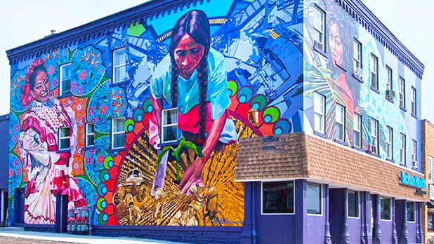Betsy Casanas mural in Buffalo; Photo Credit: @albrightknox on Instagram