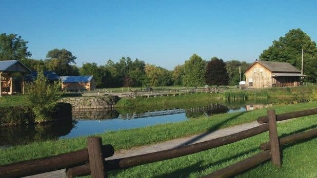 Chittenango Canal Boat Museum from a distance