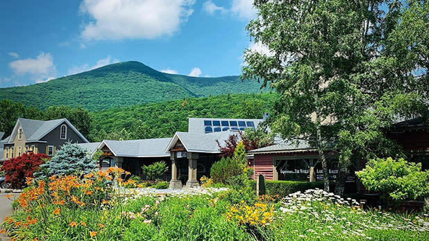 Emerson Resort buildings surrounded by Catskills greenery