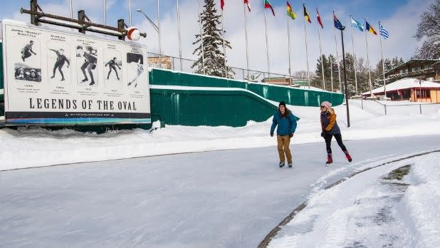 skaters at the Lake Placid Oval