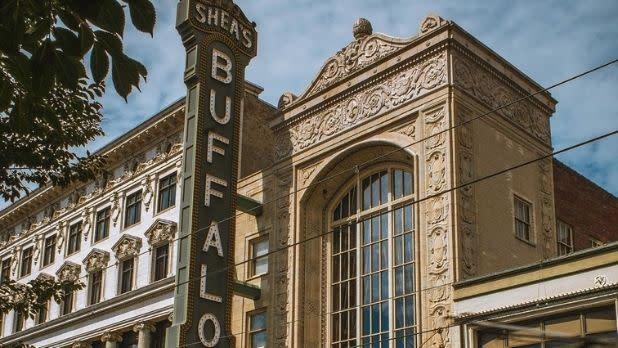 The Shea's Buffalo Theatre sign and facade
