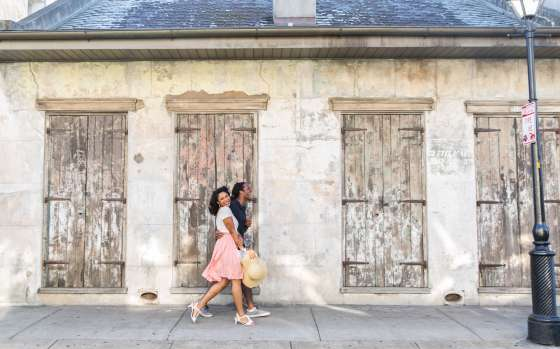 Romantic Couple in French Quarter
