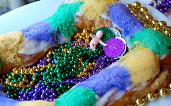 King Cake with Beads