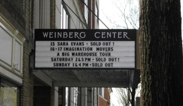 Marquee sign for the Weinberg Center