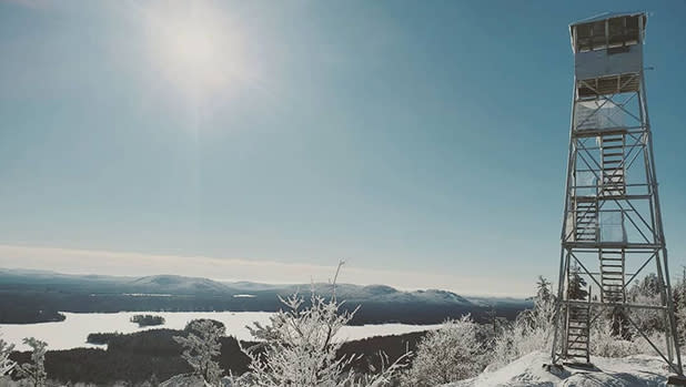 View from the top of Bald Mountain with Rondaxe Fire Tower
