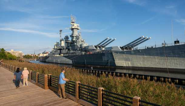 Battleship NC Memorial Walkway
