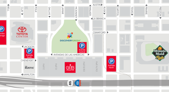 Parking Downtown Houston Parking Map on