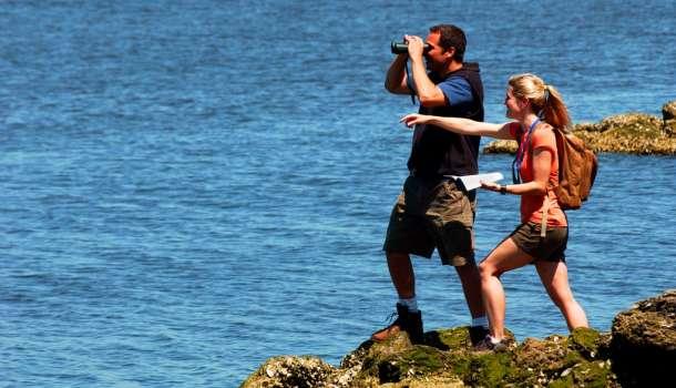 Couple on birding trail