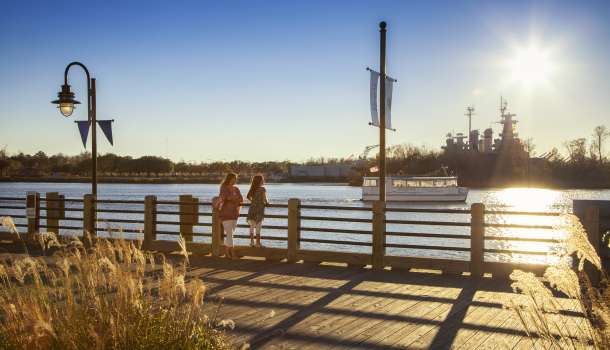 Mother & Daughter on Wilmington Riverwalk