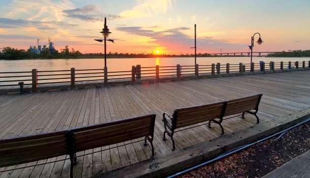 Wilmington Riverwalk at Sunset