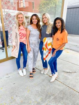 Women dressed in fall clothing line from Dress and Dwell
