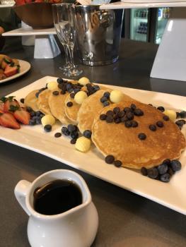 Saskatoon Inn brunch pancakes