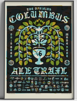 Receive an art print when you visit every brewery on the Columbus Ale Trail