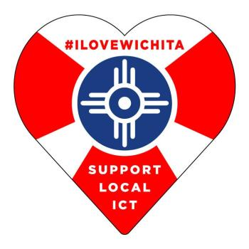 #ILOVEWICHITA Decal from the Chamber of Commerce
