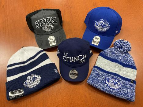 Syracuse Crunch variety of caps and winter hats