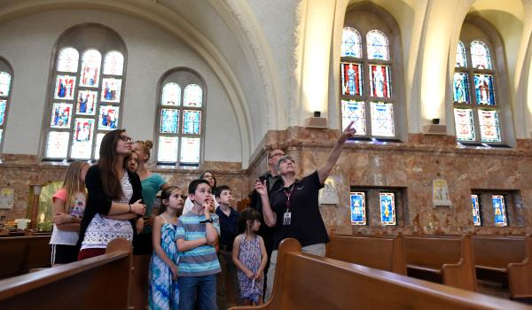 Group touring the National Shrine of Elizabeth Ann Seton