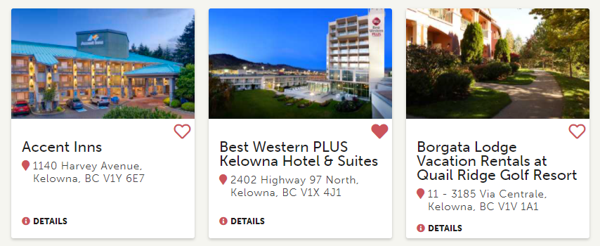 Itinerary Builder Listing Examples