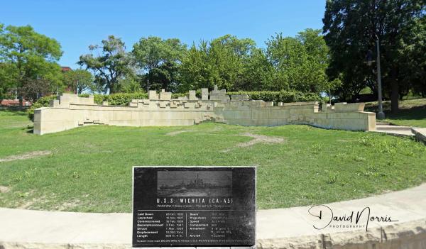 USS Wichita Memorial at Veterans Memorial Park in Wichita