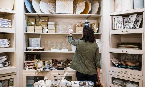 Influencer Jessica Camerata visits a Columbia, SC homegoods shop