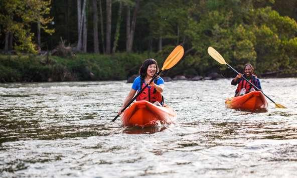Women_kayaking_Saluda_Shoals_ECSC_Sept_2019_photo_by_Forrest_Clonts_026 Women Kayaking on the River