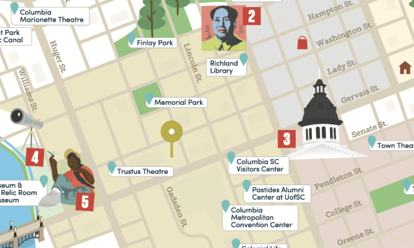 City Center map in Columbia, SC