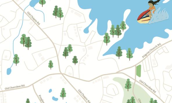 Lexington area map of South Carolina