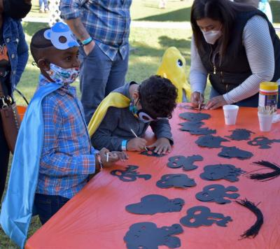 Boo bash on the Lawn at the Children's Museum