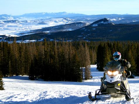 snowmobiling is a popular activity in the winter in Steamboat Springs, Colorado