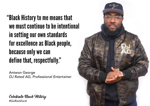 Antwon George and Black History Month quote