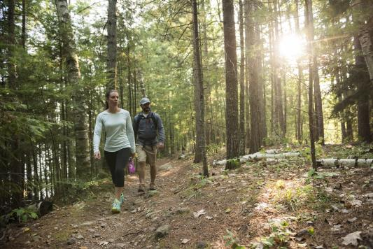 Couple Hiking in Minocqua