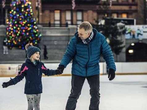 Skating at Alex & Ani