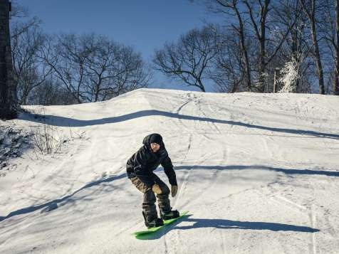 Snow Boarding at Yawgoo