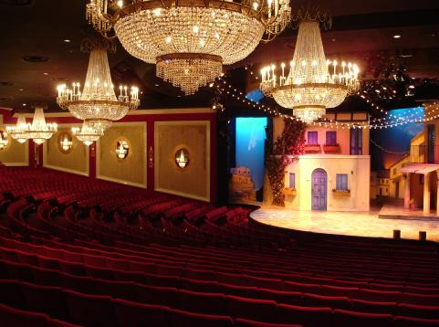 Drury Lane Theatre seats and stage