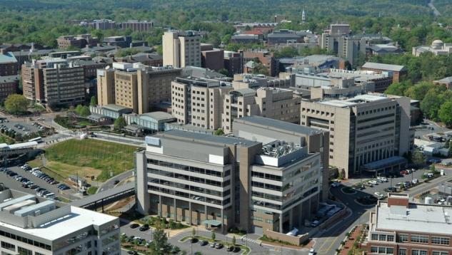 UNC Hospitals aerial view