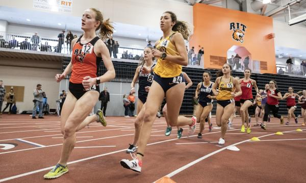 Indoor track competition at Gordon Field House
