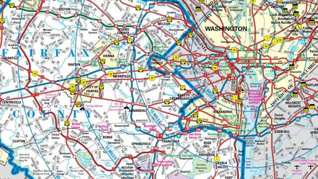 picture regarding Printable Street Map of Washington Dc identified as Maps - Fairfax Virginia Holidays Fairfax County, VA