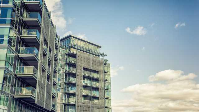 High-rise apartment building exterior
