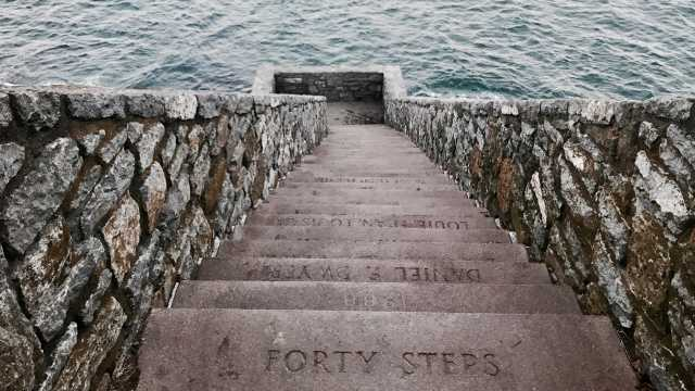 Forty Steps at Cliff Walk